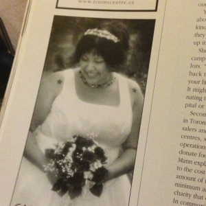 our wedding photographer used one of my pictures in an ad for Wedding Bells magazine
