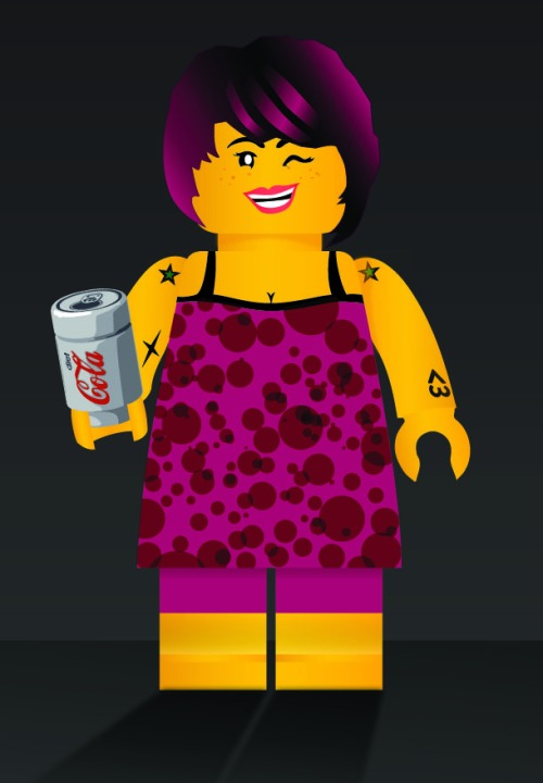 accurate down to the tattoos and diet coke (they told me they weren't able to make the cleavage bigger) :D