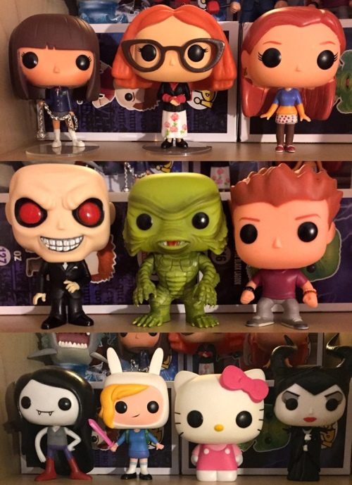 top row: gogo yubari, myrtle snow, willow rosenburg middle row: gentleman, creature from the black lagoon, seth green as oz bottom: marceline, fionna, hello kitty, maleficent